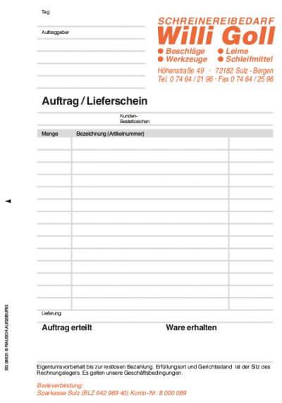Formular A-LS Muster