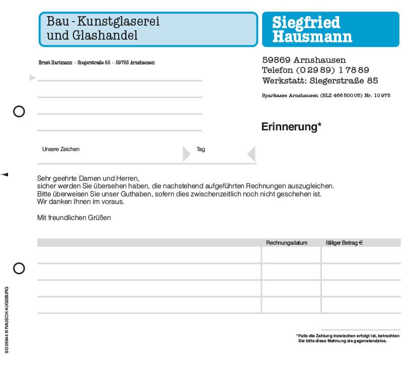 Rechnungsformular Quittungsblock Mit Durchschlag Von Orgaset